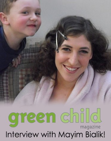 Mayim with sons Miles and Fred