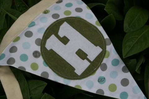Cloth Birthday Banner from Green Planet Parties
