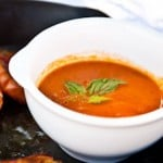 Roasted Tomato Soup and Rustic Garlic Bread