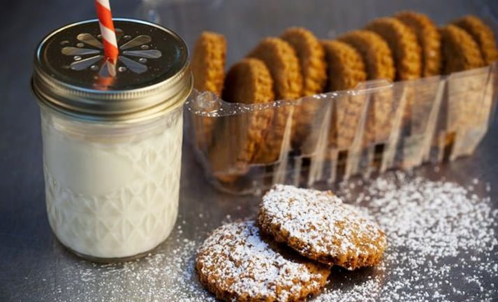 Fall Pumpkin Spiced Cookies and Rice Milk