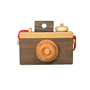 Wooden camera from Romp Store