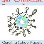 How to sort and organize your child's artwork and school papers