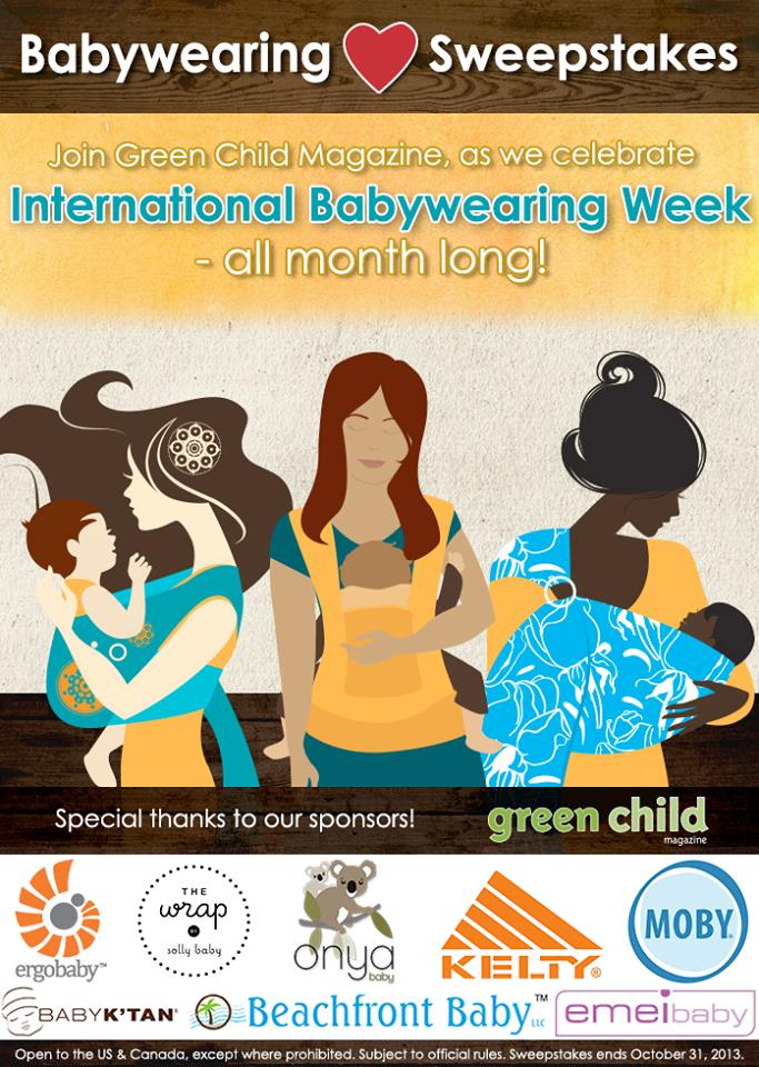 International Babywearing Week Sweepstakes: Enter to win one of your favorite baby carriers