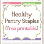 Pantry Staples List {Free Printable}