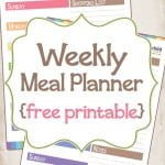 Meal Planning & Pantry Organization {free printable}