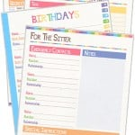 Home Organization Sheets {free printable}