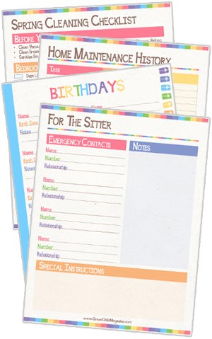 ... Set that includes calendars and other basic personal planning pages