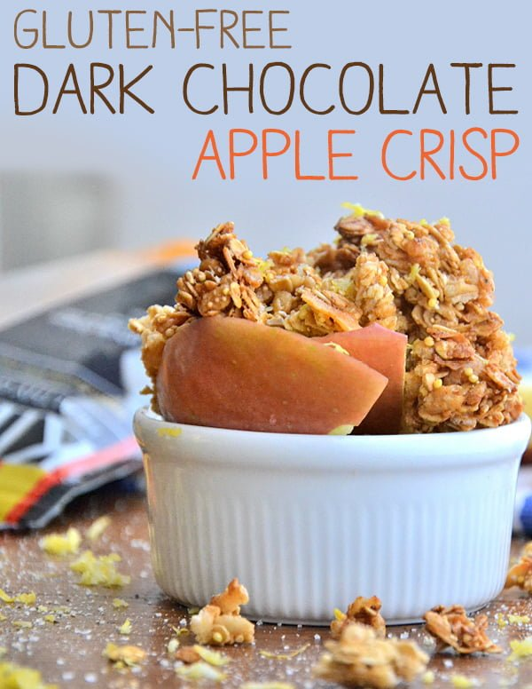 GlutenFree Dark Chocolate Apple Crisp