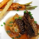 Wild Morels with Carrots