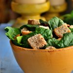 Avocado Salad with  Gluten-Free Cheesy Croutons