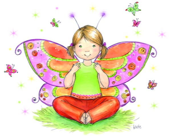 ABCs of Yoga for Kids butterfly