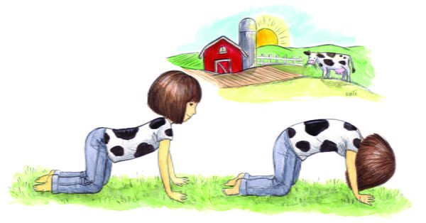 ABCs of Yoga for Kids cow