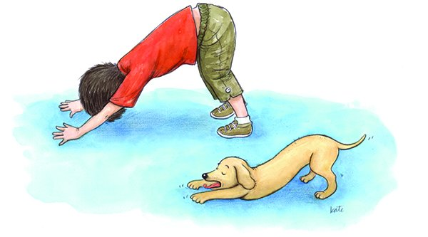 ABCs of Yoga for Kids dog