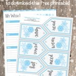 Want, Need, Wear, Read Wish List & Gift Tags {Free Holiday Printable}