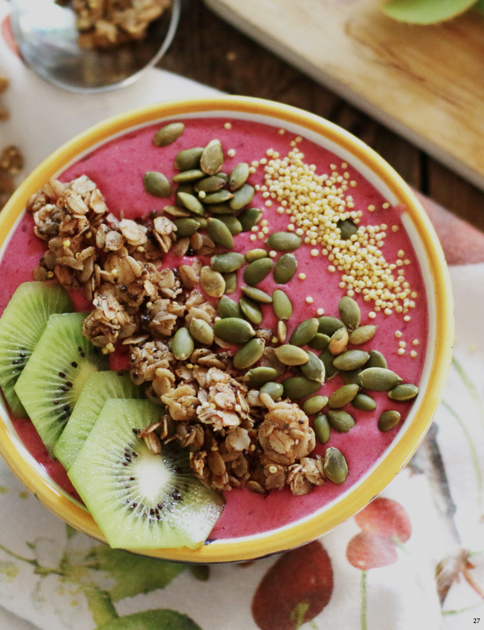 Coconut Raspberry Cooler Smoothie Bowl