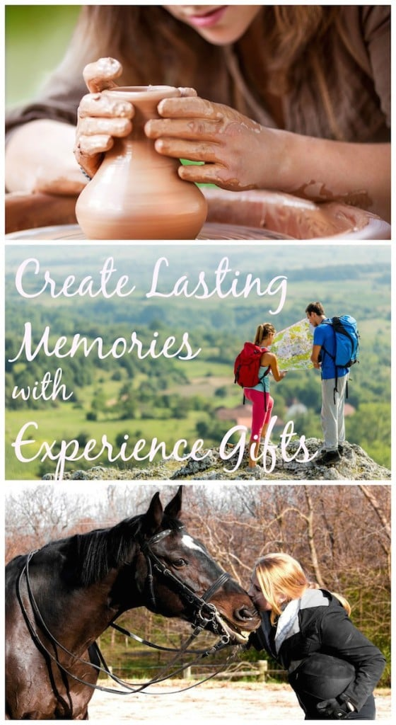"""Experience gifts are a fun & creative way to create memories without giving """"stuff"""""""