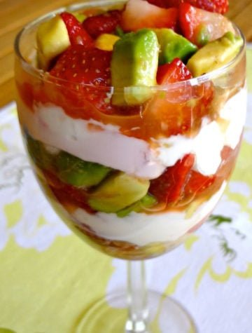 Strawberry Avocado Parfait