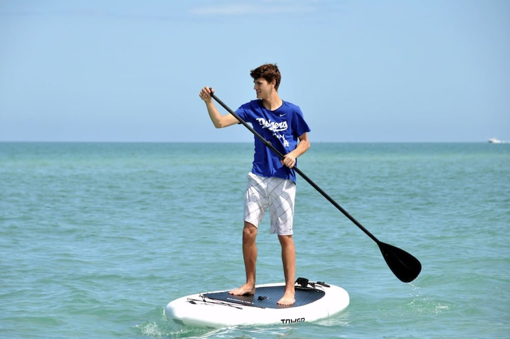 Green Travel with Kids paddleboarding Green Child Mag