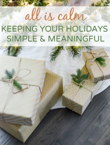 Keeping holidays simple and meaningful