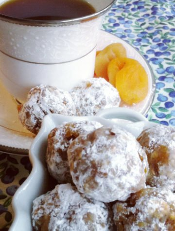 Rolled Apricot & Almond Butter Balls