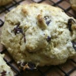 Lemon Cherry Cornmeal Scones