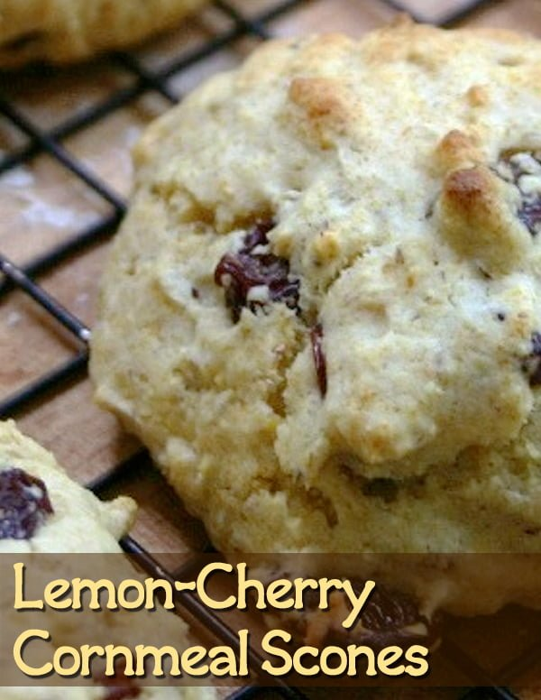 Coconut oil gives these lemon cherry cornmeal scones just the right texture and amount of moisture. And if you're looking for a fun way to shake up fruit scones, adding organic cornmeal increases the flavor.