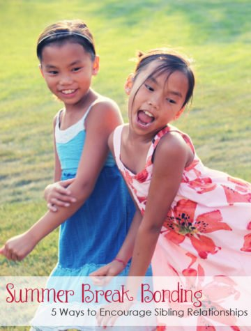 Encourage Positive Sibling Relationships