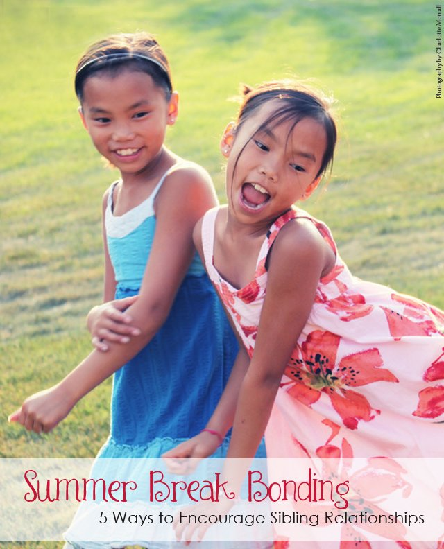 Parents who follow the gentle discipline philosophy can often find themselves at a loss when it comes to encouraging positive sibling relationships. With the extra free time summer break offers, it is an ideal time to help your kids bond with each other.