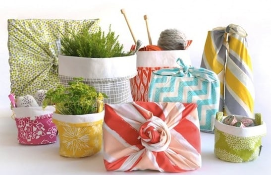 Reusable Wrapping Scarves from Chewing the Cud