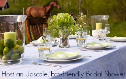 how to host a green bridal shower