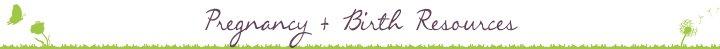 Pregnancy Birth Resources