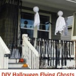 DIY Halloween Flying Ghosts