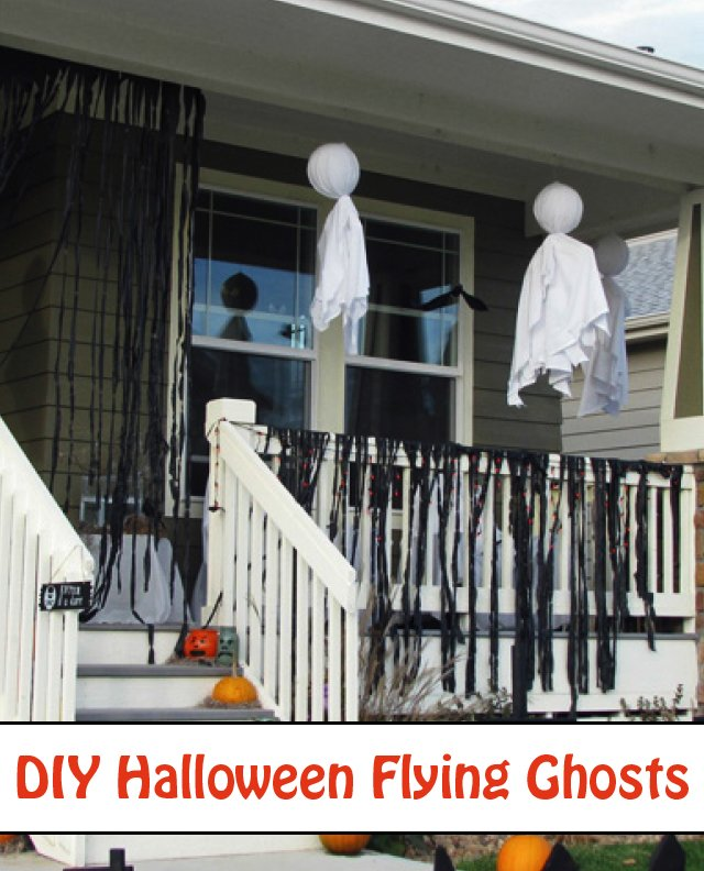DIY Halloween Ghosts from sheets