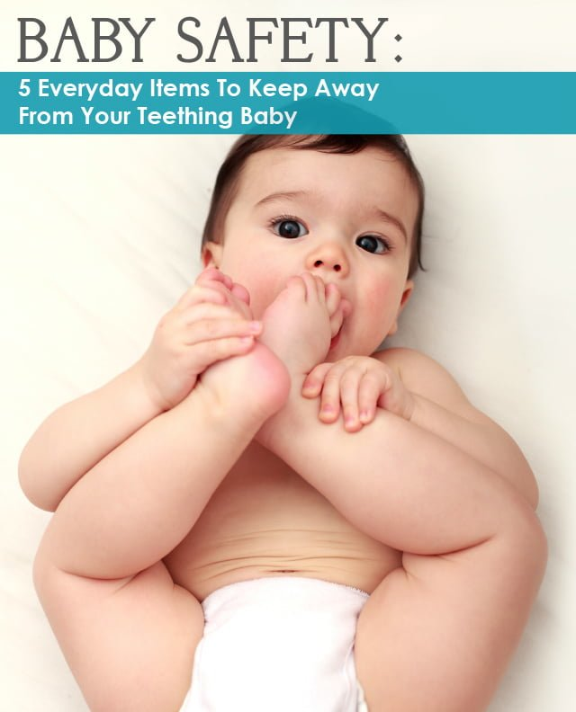 Baby putting toes in his mouth - all about baby safety