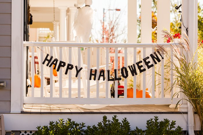 Halloween decorating with natural / reusable elements