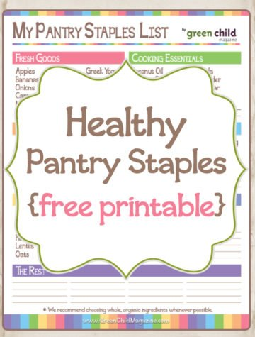 graphic regarding Pantry Staples List Printable named Printables Archives - Inexperienced Little one Journal