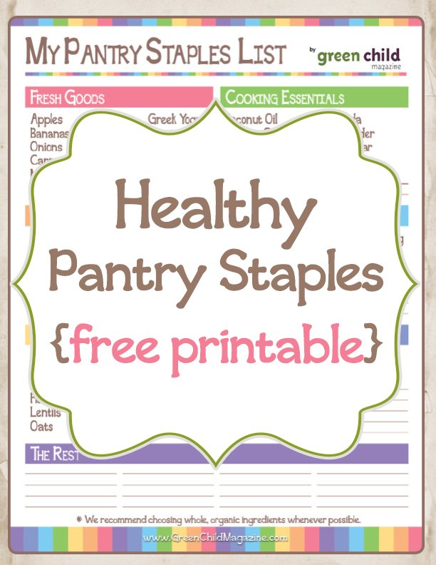 Free Pantry Staples List