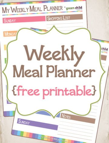 Collage of free printable meal planners
