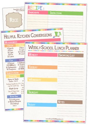 meal planning pantry organization free printable