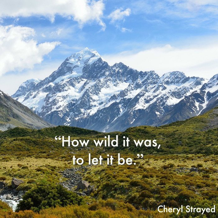 Vitamin N: Time in Nature: How wild it was to let it be quote by Cheryl Strayed