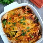 Dairy & Gluten-Free Cheesy White Bean Enchiladas