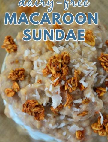 Dairy Free Macaroon Sundae