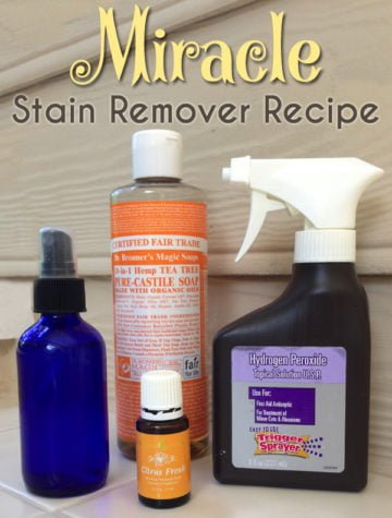 This DIY Miracle Stain Remover works great on grass stains and keeping whites white #stainremover