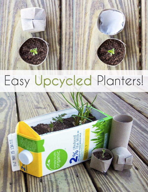 Easy Upcycled Planters for Gardening