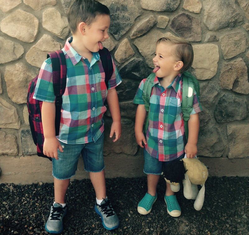 Keep the crazy outtakes... How to capture great first day of school photos