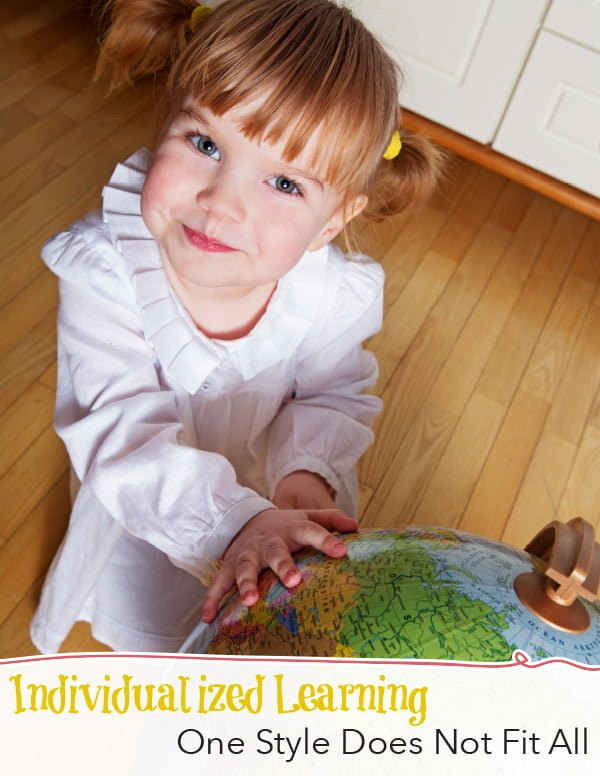 Homeschooled child with globe