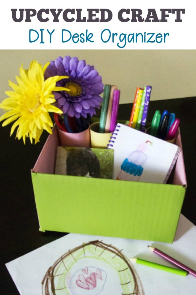 Upcycled Craft Create a Colorful DIY Desk Organizer
