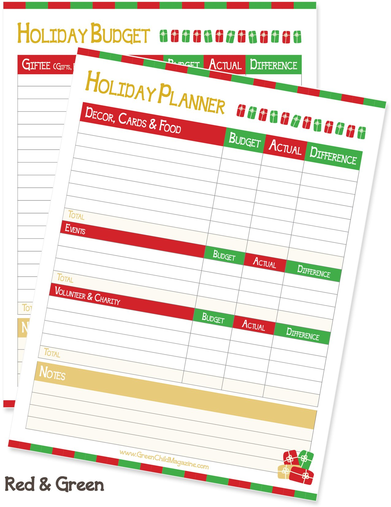 Holiday Budget Red Green