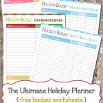The Ultimate Holiday Planner {free printable}