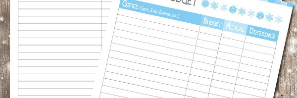 Download your free Holiday budget and planner from Green Child Magazine